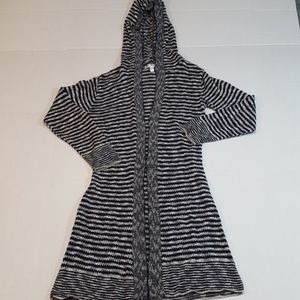 Say What? Long Cardigan Sweater Navy Size XS
